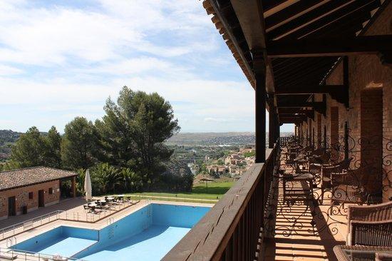 Parador de Toledo : vue du balcon