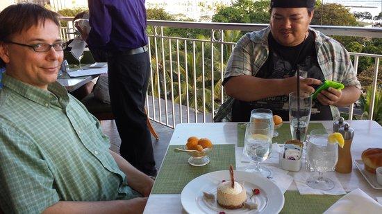 Mariposa: mango sorbet enjoyed by Todd and Sean