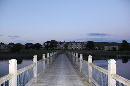 Lough Erne Resort: Reed Bridge to hotel shot