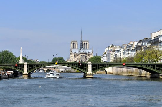 Vedettes du Pont Neuf : Notre-Dame Cathedral from the sightseeing boat
