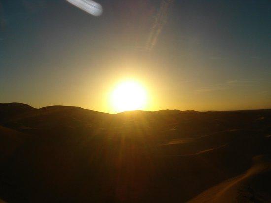 Auberge Sandfisch: Superbe coucher de soleil