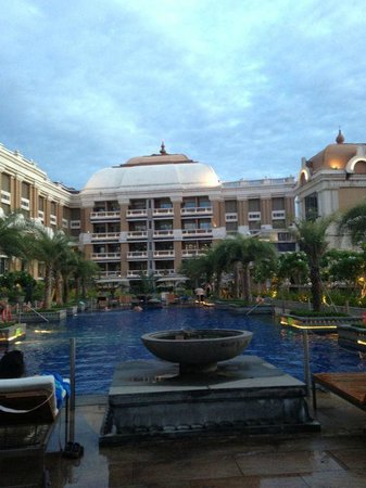 ITC Grand Chola, Chennai: View of the hotel from swimming pool
