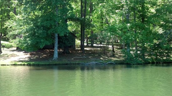 Fairy Stone State Park : Cabin view from water