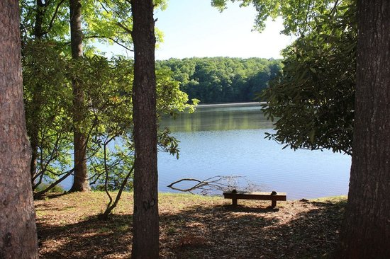 Fairy Stone State Park : View of lake from cabin