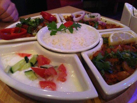 Sweet Chillies: Meat Thali Dish