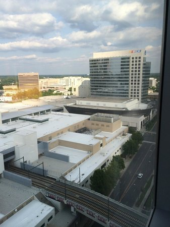 Westin Charlotte: NASCAR HOF Viewed from Room