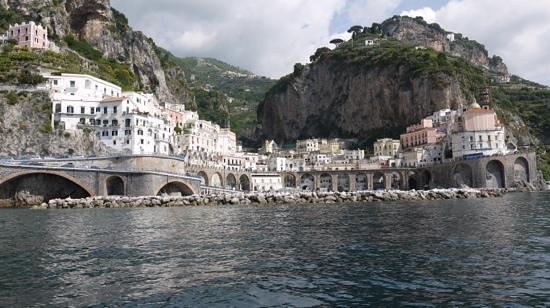 Palazzo Ferraioli: Atrani from the sea.
