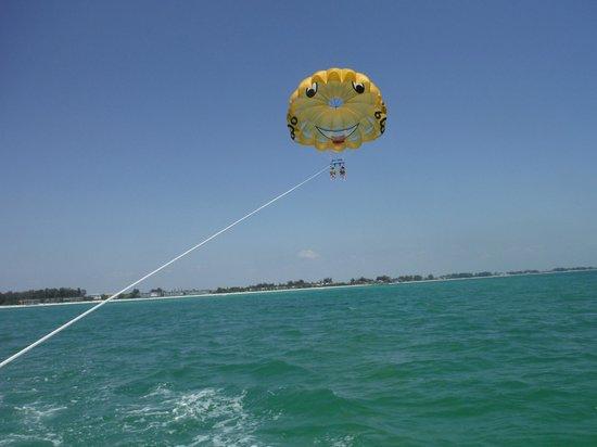 YOLO Adventures: Parasailing with YOLO on Gulf coast of Anna Maria Island