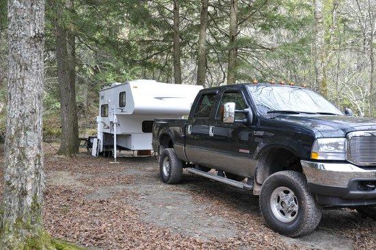 Covered Bridge Campsite : Our campsite
