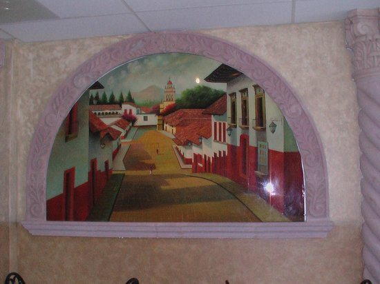 Wall mural picture of la carreta mexican restaurant for Mural restaurant