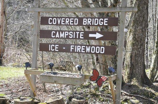 Covered Bridge Campsite : Entrance