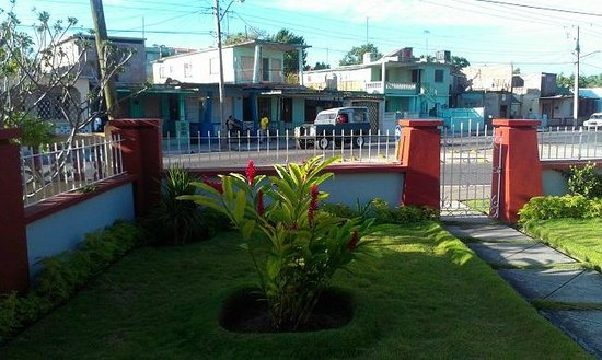 La Casa de Ruben: Partial view of front garden