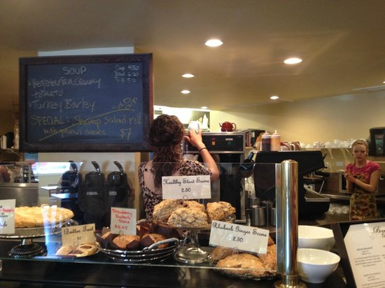 Brambles Bakery & Cafe: behind the counter