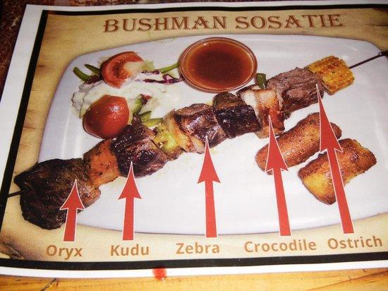 Joe's Beer House: Bushman kabob