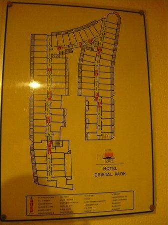 Magic Cristal Park Hotel: el plan del hotel .