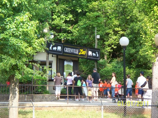 entrance to Greenville Zoo