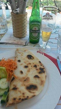 Hotel Estate: Ottima piadina con birra fresca
