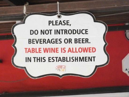 Sonora al Sur: Bring your own wine