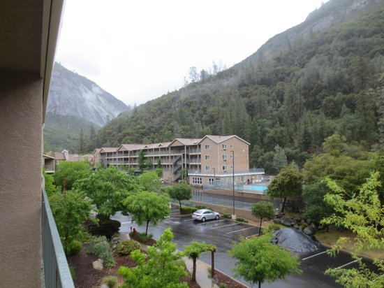 view from porch picture of yosemite view lodge el. Black Bedroom Furniture Sets. Home Design Ideas