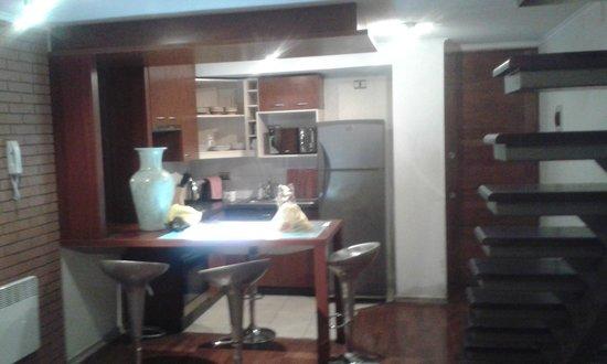 Museo De Artes Apartments : Completísima cocina/comedor.