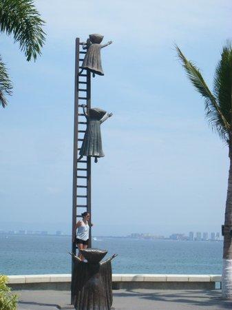 Puerto Vallarta's El Malecon Boardwalk: One of the interesting sculptures