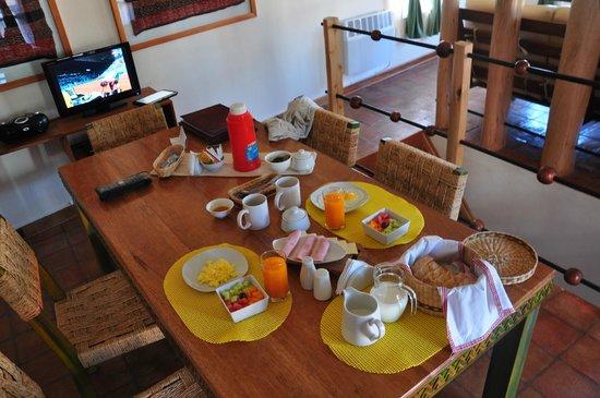 Quinua Villa Boutique: Breakfast served in Pukara Wasi
