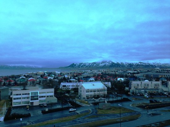 Hilton Reykjavik Nordica : View from front upper floors around 10 am in late January