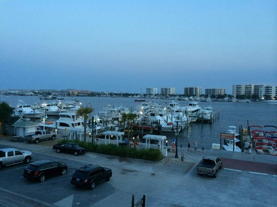 Dewey Destin Harborside: View from our table