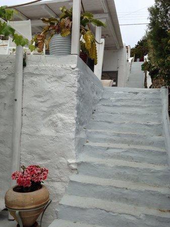 Omiros Hotel: Steps
