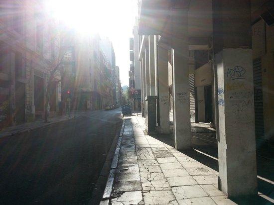 Hotel Solomou Athens : la via dell'hotel