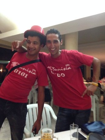 Hotel Marhaba : Gigi and mido, lovely guys!!