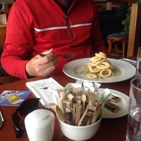 The Waterside House Hotel: tasty calamari starter