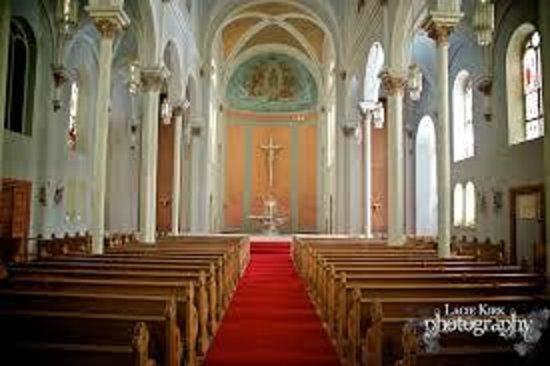 Arcadia Valley: Interior of St. Joseph's Chapel with frescoes