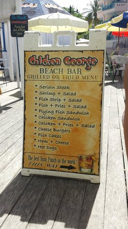 Accra Beach: We enjoyed the Flying Fish sandwich