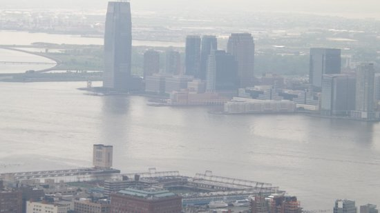 Hyatt Regency Jersey City: Looking at hotel from atop the Empire State Building