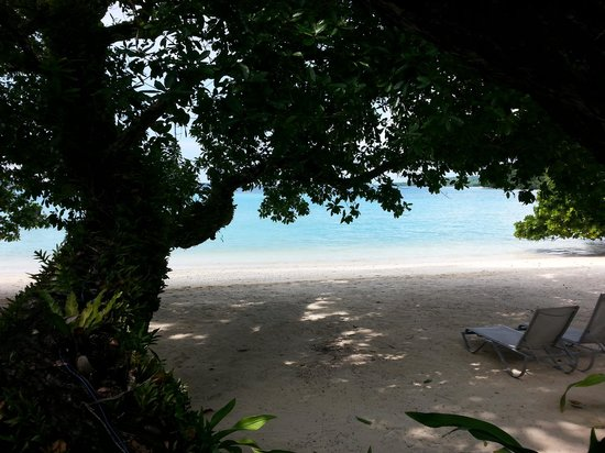 Moyyan House by the Sea : Beachfront view from Fare # 4 porch