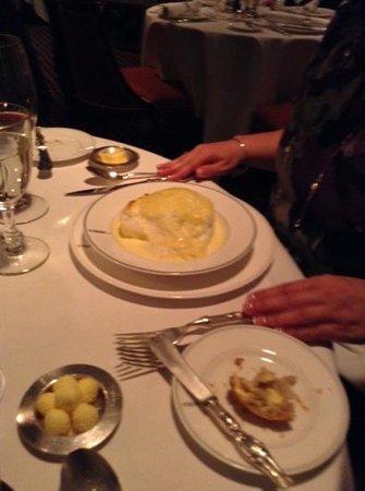 Le Gavroche: cheese soufle