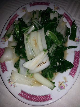 Santo Chinese Restaurant: bok choy vegetables