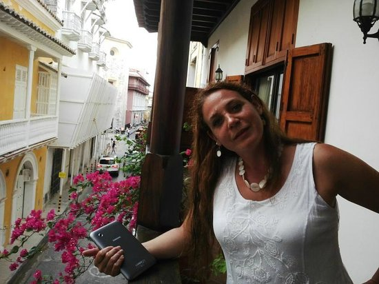 Alfiz Hotel : En el balcón del hotel