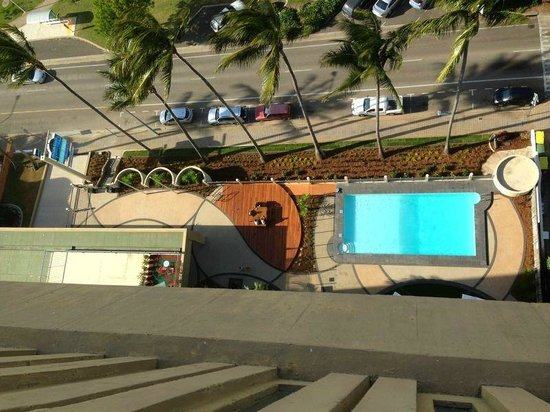 Aquarius on the Beach: Pool shot aerial