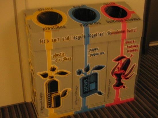 Comfort Hotel LT Rock'N'Roll Vilnius: мусор собираем отдельно