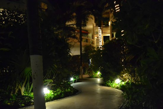 Playa Palms Beach Hotel: Pathway from the beach