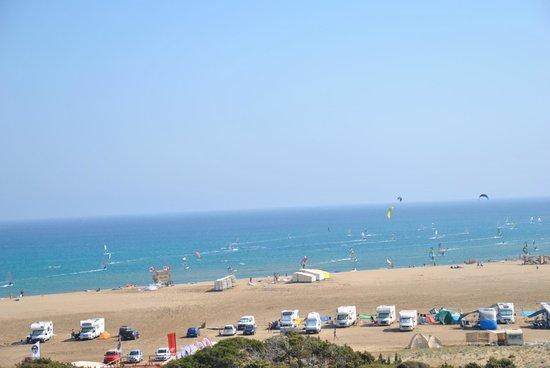 Prasonisi Beach: widok z drogi na plażę