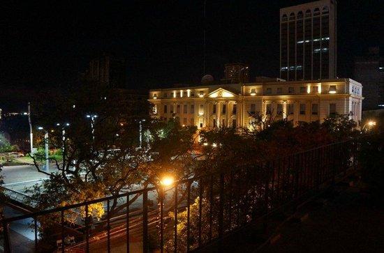 Hotel Guaraní Asunción: Vista Noturna da Piscina