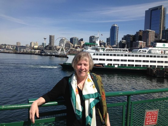 Washington State Ferries: View of Seattle Shoreline from Ferry