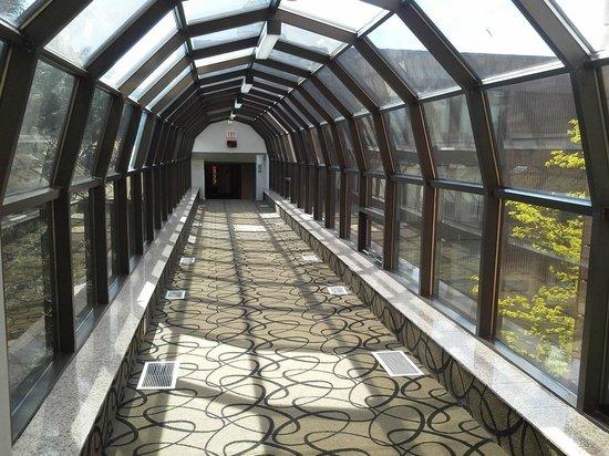 Ramada Plaza Niagara Falls: covered walk connecting the two buildings