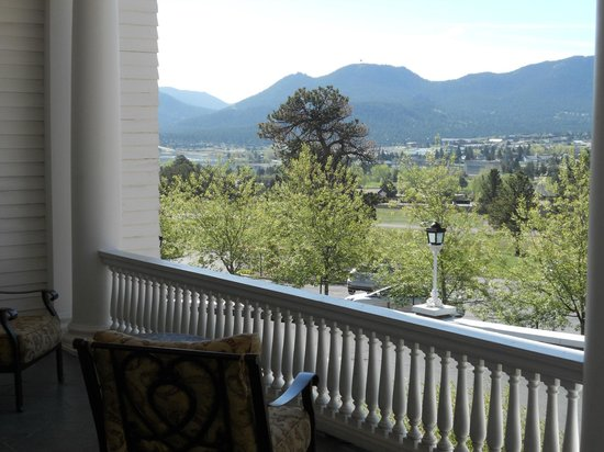 Stanley Hotel: View from front porch of the Lodge