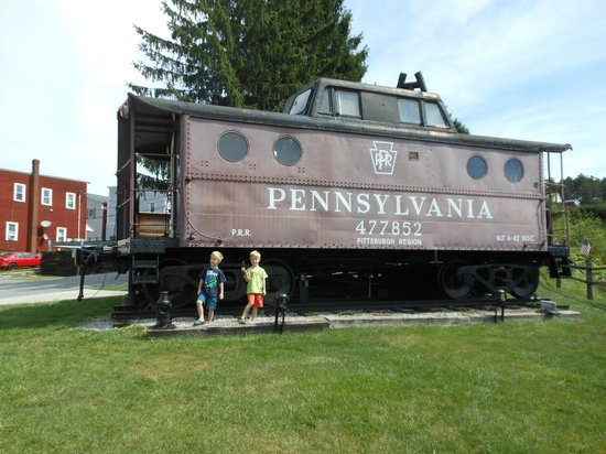Gallitzin Tunnels Park & Museum: My grandsons on a visit to Gallitzin Tunnels, in 2013
