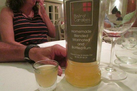 Bistrot Caraibes: after dinner rum drink