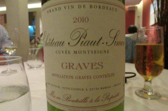 Bistrot Caraibes: white wine